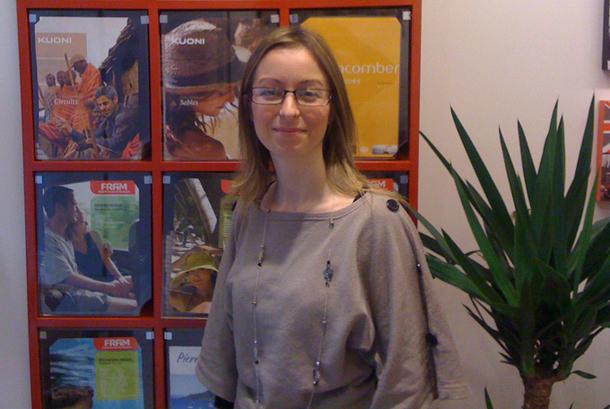 Valérie Marie, responsable d'agence Boiloris, Ambassade Fram, a le contact direct et aisé. Dans son quartier du XVe arrondissement de Paris, où elle travaille depuis 5 ans, elle a fini par tisser des relations presque amicales avec ses clients - DR : S.L.