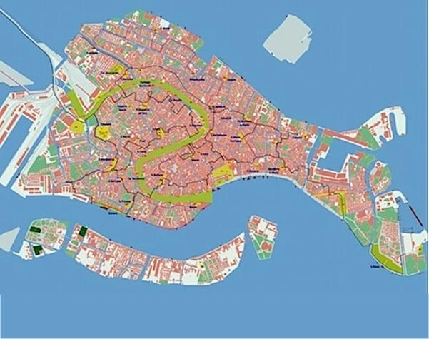 Venise s'enfonce dans la Lagune, devient le symbole d'une décadence annoncée ? Et hop ! Son maire truffe la ville, en 2006, de milliers de gaines, de fils et d'interconnections pour créer de nouveaux flux pour une communication en réseau wifi. C'est Venice Connected - DR