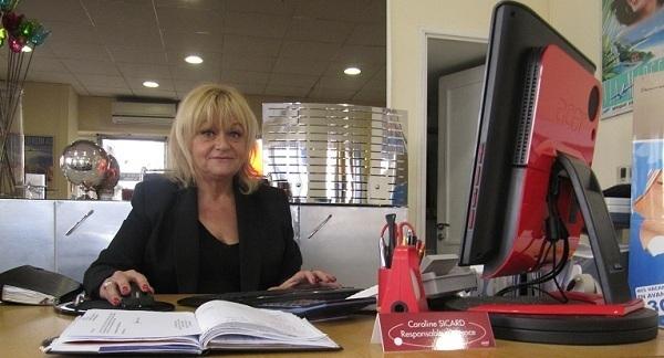 Caroline Sicard est responsable de l'agence Castellane Voyages Sud, à Marseille - Photo P.C