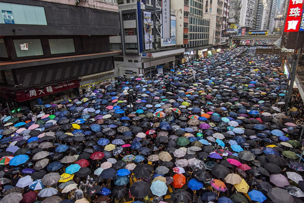 Photo prise lors des manifestations à Hong Kong - Photo Iremos