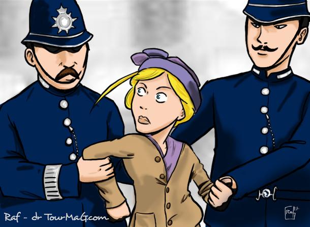 Si Léa avait vécu au 19e, elle aurait certainement été en pointe du combat des Sufragettes, ces jeunes femmes féministes avant l'heure qui descendaient dans la rue et manifestaient pour l'obtention du droit de vote. /illustration Raphël