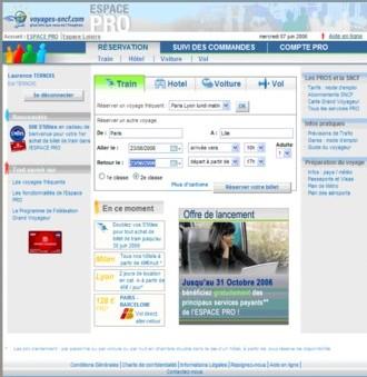 Voyages-sncf.com se dote d'un Espace Pro