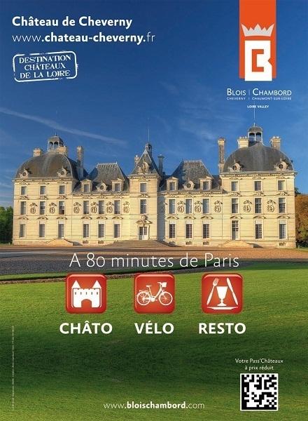 Les châteaux de Cheverny, de Blois et de Chambord vont s'afficher pendant un mois dans le métro parisien - DR