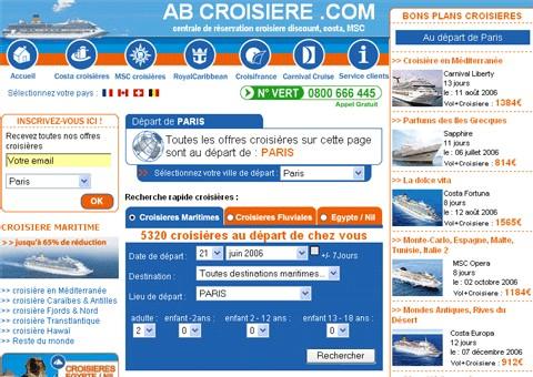 Abcroisière.com lance son ''Moteur Dynamique Croisières''