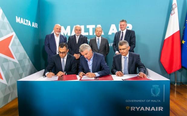 Lors de l'achat de Malta Air par Ryanair, en juin 2019 ©Ryanair