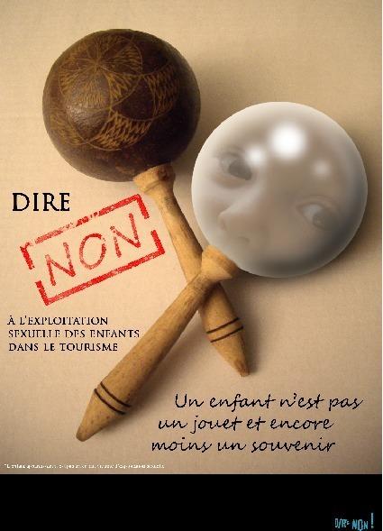 """L'affiche de Caroline Seiler, lauréate du 1er prix du concours """"Dire Non"""" - Photo DR"""