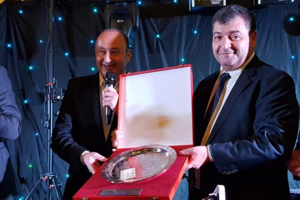 Laurent Abitbol, Président du groupe Marietton et René Trabelsi, Ministre tunisien du tourisme et du transport - Photo CE