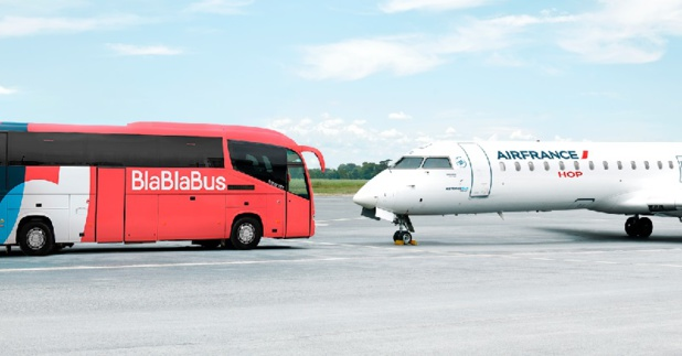 Air France et BlaBlaBus pour proposer une offre Bus + Avion - DR