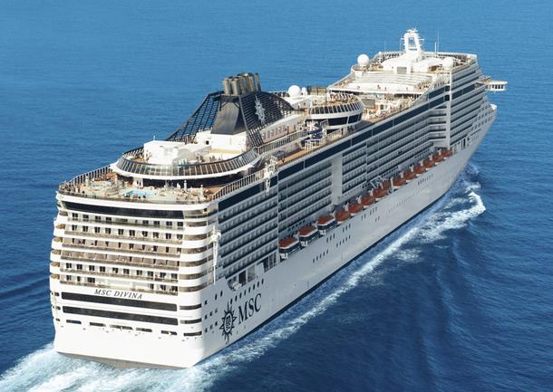 Alors que le MSC Divina (photo), actuellement en finition sur les chantiers de Saint-Nazaire, sera baptisé le 26 mai prochain à Marseille, la compagnie annonce l'acquisition d'un nouveau navire, le MSC Preziosa - DR : MSC