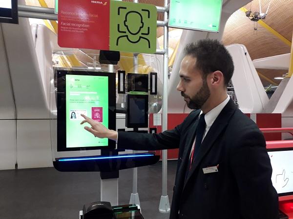 Premier projet biométrique au monde via une application pour appareil mobile - Crédit photo : Iberia