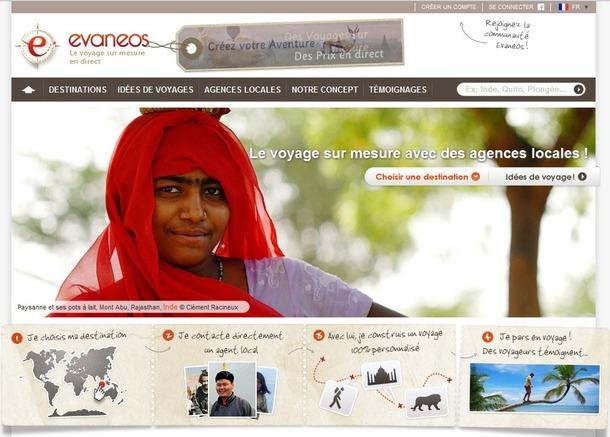 Capture d'écran du site Evaneos.com - DR