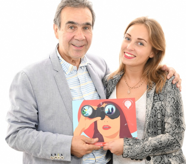 Valentine Jean-Richard, avec son père Michel Jean-Richard /crédit photo Alexandre Nestora