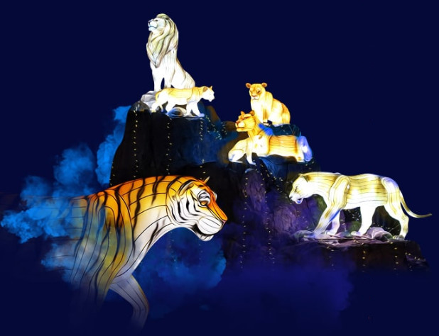 Les Lumières Légendaires de Chine partiront en tournée exclusive, une première en France pour un festival de lanternes de cette ampleur - DR