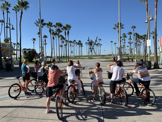 Visite guidée à vélo avec Los Angeles Off Road à Santa Monica et Venice Beach