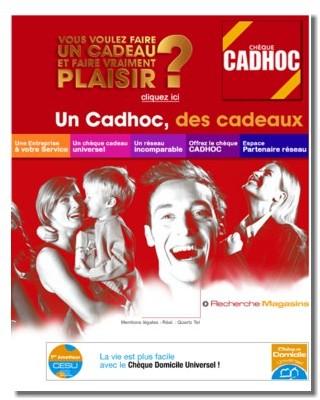 Chèques Cadhoc : le voyage en forte croissance