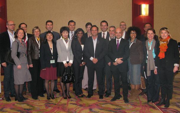 Les représentants des huit compagnies privilégiées d'AS Voyages lors des secondes rencontres affaires du réseau. DR