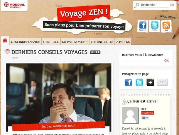 Le site permet aux voyageurs de bien préparer leurs départs - Capture d'écran