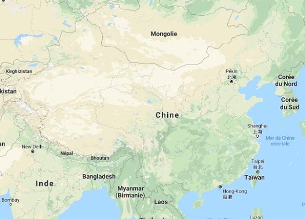Les autorités chinoises ont mis en place des mesures préventives pour empêcher la contagion - Google Map Chine