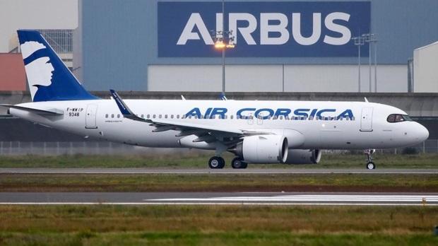 A320neo d'Air Corsica sur le site industriel d'Airbus, lors de ses premiers tests – novembre 2019 - DR