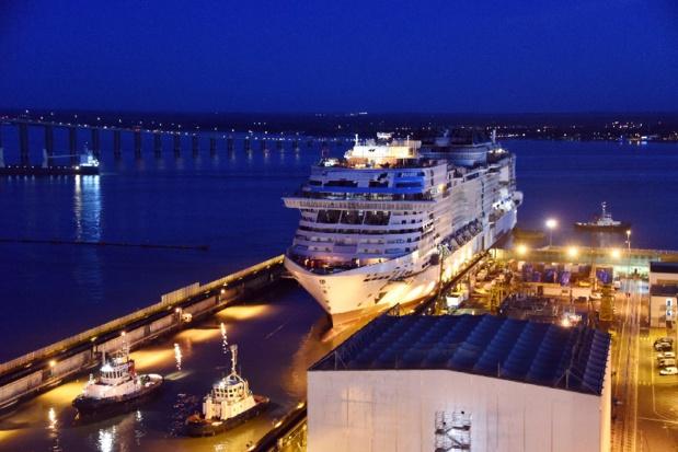 Le MSC Virtuosa a été mis à l'eau aux Chantiers de l'Atlantique - Photo DR