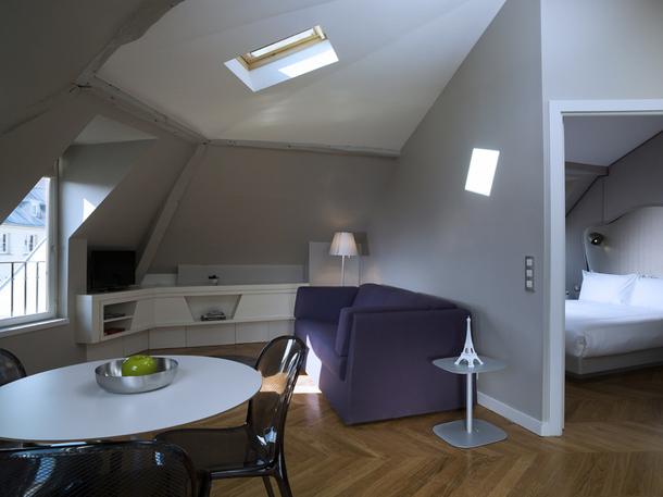 Si l'atmosphère de la résidence Nell à Paris se veut conviviale et informelle, elle offre l'ensemble des services d'un hôtel de luxe - DR