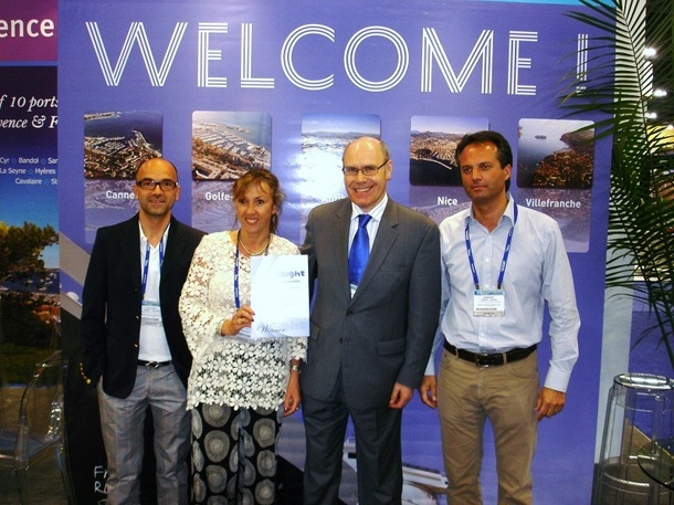 Lors du Cruise Shipping à Miami le port de Villefranche a reçu le prix « The Best local initiative of the year » - Photo DR