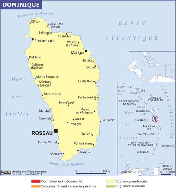 La carte du Ministère de l'Europe et des Affaires Etrangères - DR