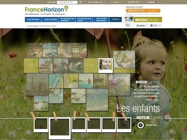 """Le nouveau site FranceHorizon va proposer un """"moteur d'envies"""" pour dénicher un séjour en fonction de ses envies du moment. DR"""