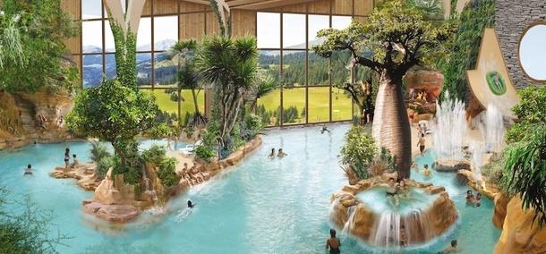 Aquariaz, le nouveau parc aquatique de la ville d'Avoriaz - DR
