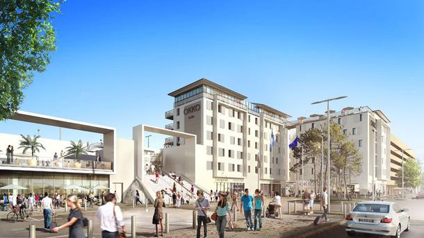 Un hôtel 4 étoiles à l'enseigne Okko, développée par Paul Dubrule et Olivier Devys, proposera 125 chambres près de la gare de Cannes en 2014 - DR