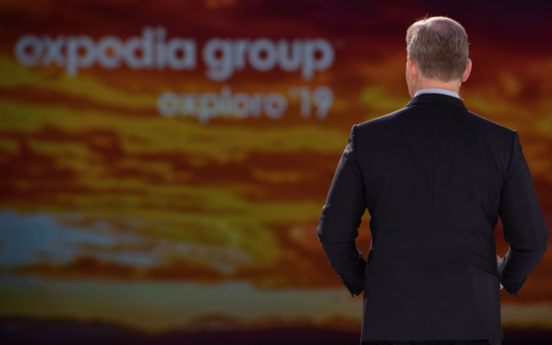 Mark Okerstrom, début novembre 2019 à Las Vegas, lors du congrès annuel d'Expedia © Expedia