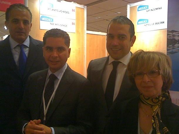 Quelques membres de la Tunisia Mice Association ont fait le déplacement au salon du Meedex pour présenter leur nouvelle entité - DR
