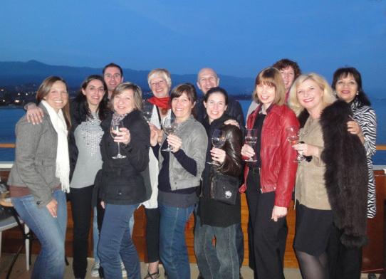 L'équipe en pleine dégustation sur le wharf de Santa Barbara - DR
