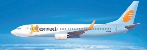 Depuis le 25 mars 2012, la marque JetKonnect rassemble les deux filiales low-cost de Jet Airways - Photo DR