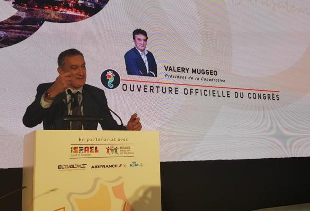 Valéry Muggeo, président de la coopérative, a présenté le projet d'école de tourisme de Selectour - Photo CE