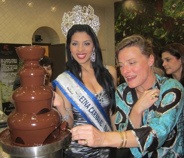 Estefania Mora, la miss Carnaval 2012 était présente au musée du chocolat pour l'évènement organisé par l'office du tourisme du Panama. DR