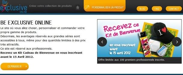 Capture d'écran du site www.beexclusiveonline.com - DR