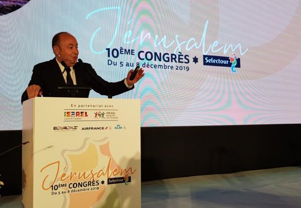 Laurent Abitbol, président du directoire de Selectour au Congrès à Jérusalem - Photo CE