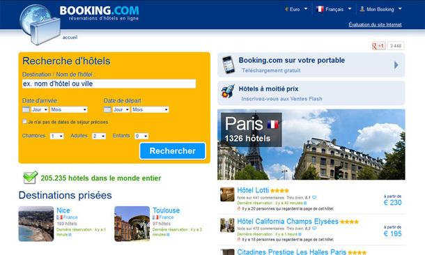 Booking.com attire 30 millions de visiteurs unique tous les mois et génère plus de 300 000 réservations par jour - DR
