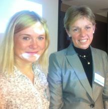 Maria Alajoe (à droite) et Oksana Skorbatjuk, de l'OT d'Estonie - DR : B.F.