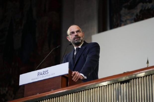 Edouard Philippe a présenté aux syndicats et au patronat les détails du futur régime universel par points ce mercredi 11 décembre 2019. – DR Tweeter Edouard Philippe.