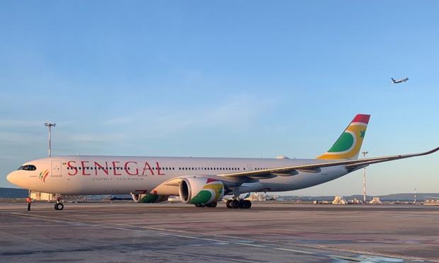 L'A330 néo d'Air Sénégal s'est posé à l'Aéroport Marseille Provence, ce jeudi 12 décembre 2019 - DR : AMP