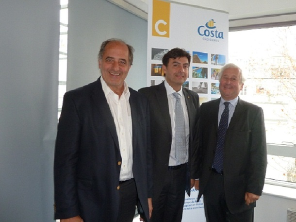 De gauche à droite Jean-Pierre Mas, Georges Azouze et François-Xavier de Boüard - Photo M.S