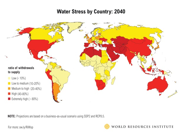 water_stress_world_map_large-Crédits World Resources Institute