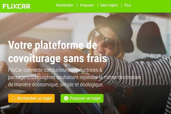 FlixCar est une offre de covoiturage sans commissions ni de frais - Crédit photo : Flixcar