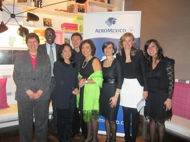 Toute l'équipe d'Aeromexico a fait le déplacement à l'hôtel Bel Ami à Paris pour lancer officiellement ses nouveaux horaires nocturnes.DR-LAC