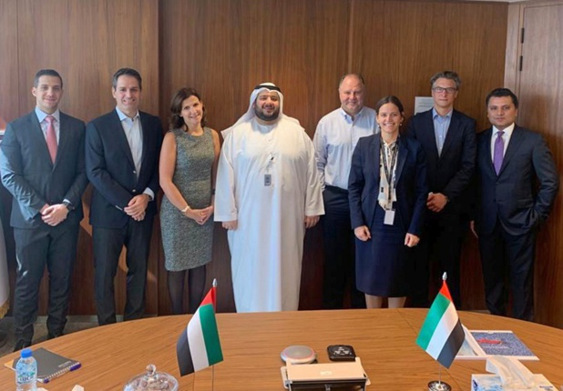 Hassan Sharaf (FTI Group Corporate Finance Manager), Eskandar Tooma (SOSTNT), Roula Jouny (CEO Meeting Point International Group), Mohamed H. Al Suwaidi (CEO ADDH), Dietmar Gunz (FTI Group Managing Director), Beverley Everitt (ADDH), Carsten Becker (FTI Group Director Finance) und Murtaza Hussain (ADDH Investment Director – Utilities & Industry) - DR :
