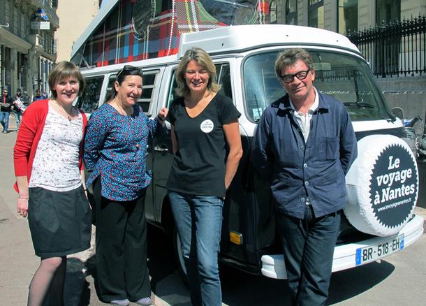 L'équipe du VAN à Marseille : Lucie Poirier, chargé de promotion ; Marie-Laure Pogu, responsable web ; Aurélie Péneau, Directrice Commerciale et Marketing ; Jean Blaise, directeur général - DR : A.B.