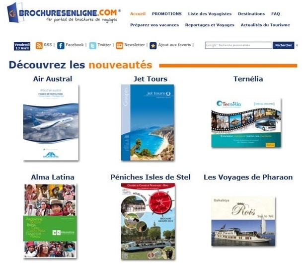 Cette semaine, douze catalogues font leur entrée sur Brochuresenligne.com - Capture d'écran