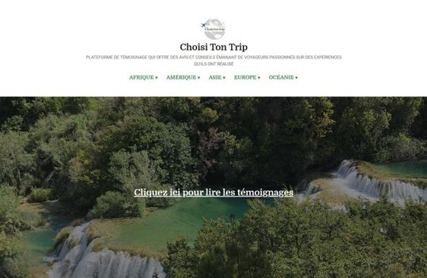 Le format du site se veut minimaliste et facile à lire afin de trouver les informations de manière rapide et efficace - DR : Capture d'écran Choisi Ton Trip